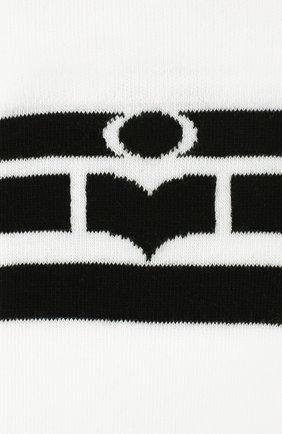Женские носки ISABEL MARANT белого цвета, арт. CT0076-20P034A/VILY | Фото 2