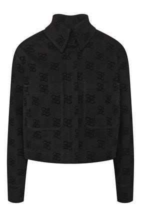 Женская джинсовая куртка FENDI черного цвета, арт. FLF601 A5XB | Фото 1