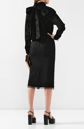 Женская джинсовая куртка FENDI черного цвета, арт. FLF601 A5XB | Фото 2