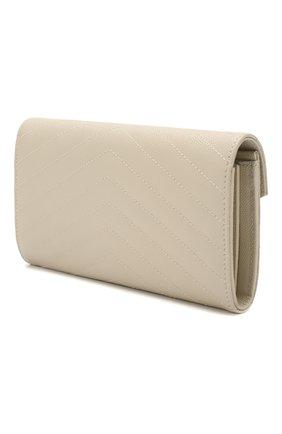 Женские кожаный кошелек SAINT LAURENT белого цвета, арт. 372264/B0W02 | Фото 2