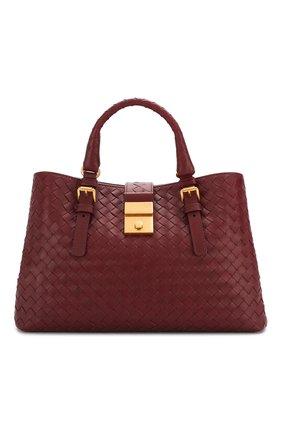 Женская сумка roma small BOTTEGA VENETA бордового цвета, арт. 576336/VQ13C | Фото 1