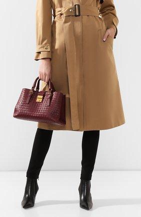 Женская сумка roma small BOTTEGA VENETA бордового цвета, арт. 576336/VQ13C | Фото 2