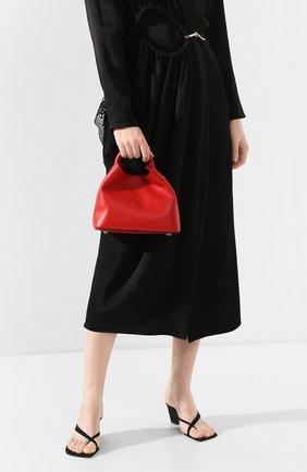 Женская сумка baozi ELLEME красного цвета, арт. BA0ZI/C0W LEATHER | Фото 2