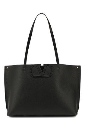 Женская сумка-тоут valentino garavani vlogo large VALENTINO черного цвета, арт. TW2B0F95/FQJ | Фото 1