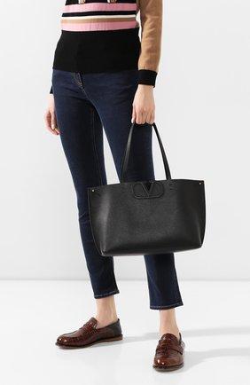 Женская сумка-тоут valentino garavani vlogo large VALENTINO черного цвета, арт. TW2B0F95/FQJ | Фото 2