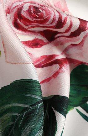 Женский шелковый платок DOLCE & GABBANA белого цвета, арт. FN090R/GDS16 | Фото 2