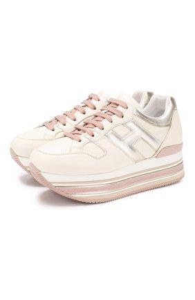 Кожаные кроссовки Maxi Platform | Фото №1