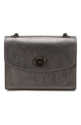 Женская сумка parker 18 COACH темно-серого цвета, арт. 79606 | Фото 1