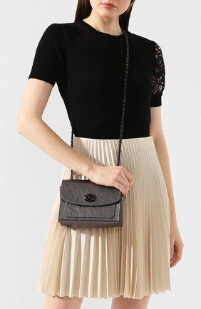 Женская сумка parker 18 COACH темно-серого цвета, арт. 79606 | Фото 2
