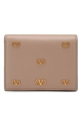 Женские кожаное портмоне valentino garavani VALENTINO бежевого цвета, арт. TW2P0P39/DRT | Фото 1