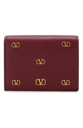 Женские кожаное портмоне valentino garavani VALENTINO бордового цвета, арт. TW2P0P39/DRT | Фото 1