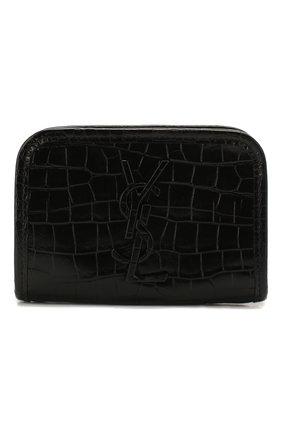 Женские кожаное портмоне SAINT LAURENT черного цвета, арт. 606503/1QP3D | Фото 1