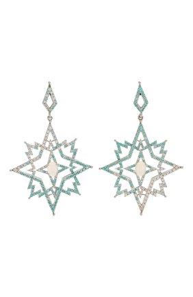 Женские серьги stars QUEENSBEE голубого цвета, арт. 201348/28,58   Фото 1