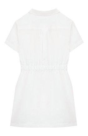 Детское льняное платье LORO PIANA белого цвета, арт. FAI9381 | Фото 2
