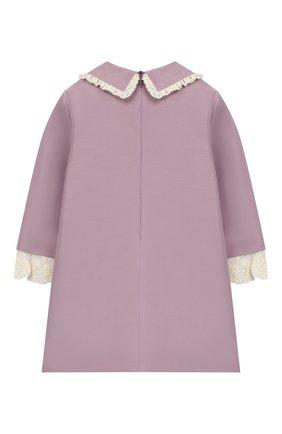 Детское платье из хлопка и шелка GUCCI фиолетового цвета, арт. 572539/ZB350 | Фото 2