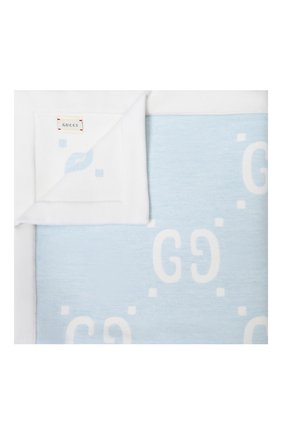 Детского шерстяное одеяло GUCCI синего цвета, арт. 604304/3K003 | Фото 1