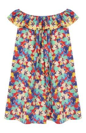 Детское хлопковое платье PAADE MODE разноцветного цвета, арт. 20210133/6M-8Y | Фото 1