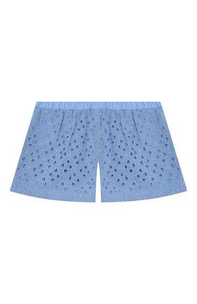 Детские хлопковые шорты PAADE MODE голубого цвета, арт. 20217101/10Y-16Y | Фото 1
