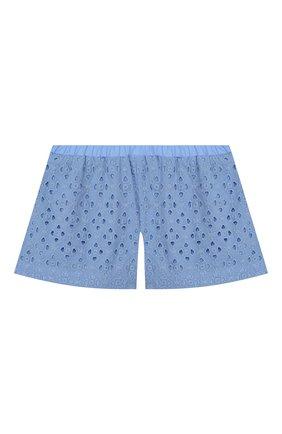 Детские хлопковые шорты PAADE MODE голубого цвета, арт. 20217101/10Y-16Y | Фото 2