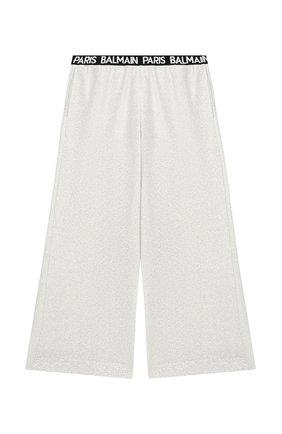 Детские брюки BALMAIN серебряного цвета, арт. 6M6110/MD740/12-16 | Фото 1