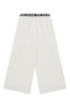 Детские брюки BALMAIN серебряного цвета, арт. 6M6110/MD740/12-16 | Фото 2