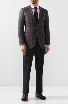 Мужские кожаные оксфорды SANTONI темно-коричневого цвета, арт. MC0S10348MC2H0ENR38 | Фото 2