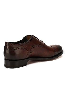 Мужские кожаные оксфорды SANTONI темно-коричневого цвета, арт. MC0S10348MC2H0ENR38 | Фото 4