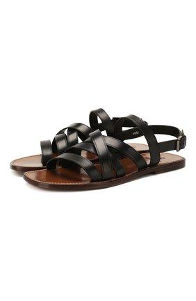 Мужские кожаные сандалии SILVANO SASSETTI черного цвета, арт. S19956X409AELBANER0 | Фото 1