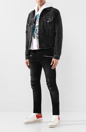 Мужские кожаные кеды ALEXANDER MCQUEEN белого цвета, арт. 604233/WHX99 | Фото 2