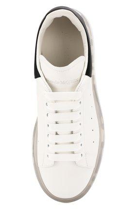 Мужские кожаные кеды ALEXANDER MCQUEEN белого цвета, арт. 604232/WHX98 | Фото 5 (Материал внутренний: Натуральная кожа; Подошва: Массивная)