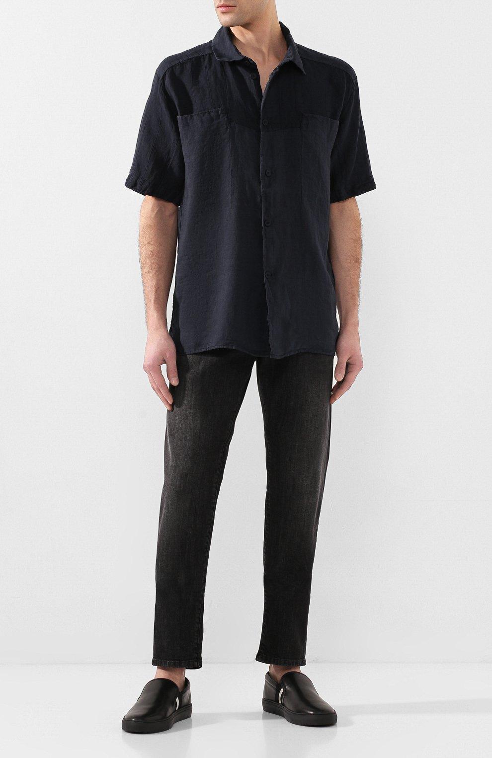 Мужские кожаные слипоны herald BALLY черного цвета, арт. HERALD-NEW/500   Фото 2