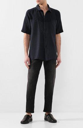 Мужские кожаные слипоны herald BALLY черного цвета, арт. HERALD-NEW/500 | Фото 2