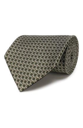 Мужской шелковый галстук TOM FORD зеленого цвета, арт. 7TF13/XT0 | Фото 1
