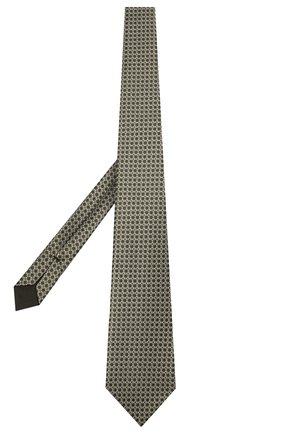 Мужской шелковый галстук TOM FORD зеленого цвета, арт. 7TF13/XT0 | Фото 2