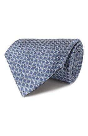 Мужской шелковый галстук TOM FORD синего цвета, арт. 7TF13/XT0   Фото 1