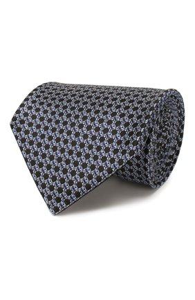 Мужской шелковый галстук TOM FORD темно-синего цвета, арт. 7TF12/XT0   Фото 1
