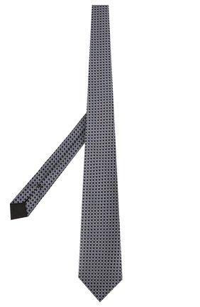 Мужской шелковый галстук TOM FORD темно-синего цвета, арт. 7TF12/XT0   Фото 2