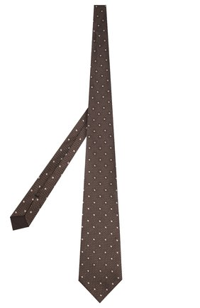 Мужской шелковый галстук TOM FORD темно-бежевого цвета, арт. 7TF09/XT0 | Фото 2