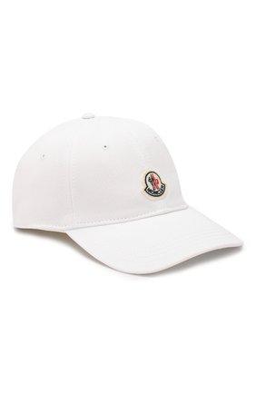 Мужской хлопковая бейсболка MONCLER белого цвета, арт. F1-091-3B706-00-V0090 | Фото 1