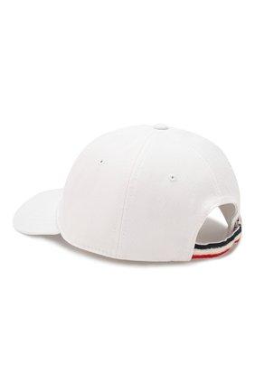 Мужской хлопковая бейсболка MONCLER белого цвета, арт. F1-091-3B706-00-V0090 | Фото 2