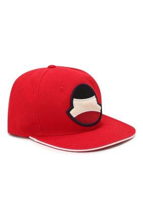 Мужской хлопковая бейсболка MONCLER красного цвета, арт. F1-091-3B700-00-V0088 | Фото 1