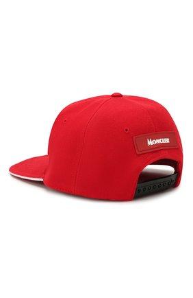 Мужской хлопковая бейсболка MONCLER красного цвета, арт. F1-091-3B700-00-V0088 | Фото 2