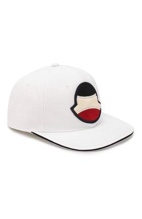 Мужской хлопковая бейсболка MONCLER белого цвета, арт. F1-091-3B700-00-V0088 | Фото 1