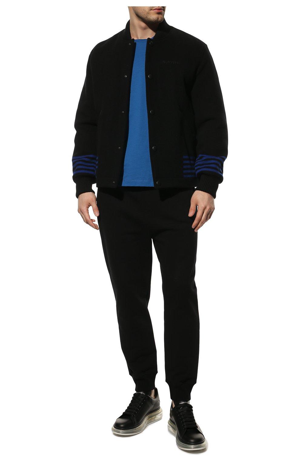 Мужские кожаные кеды ALEXANDER MCQUEEN черного цвета, арт. 604232/WHX98 | Фото 2 (Материал внутренний: Натуральная кожа; Подошва: Массивная)