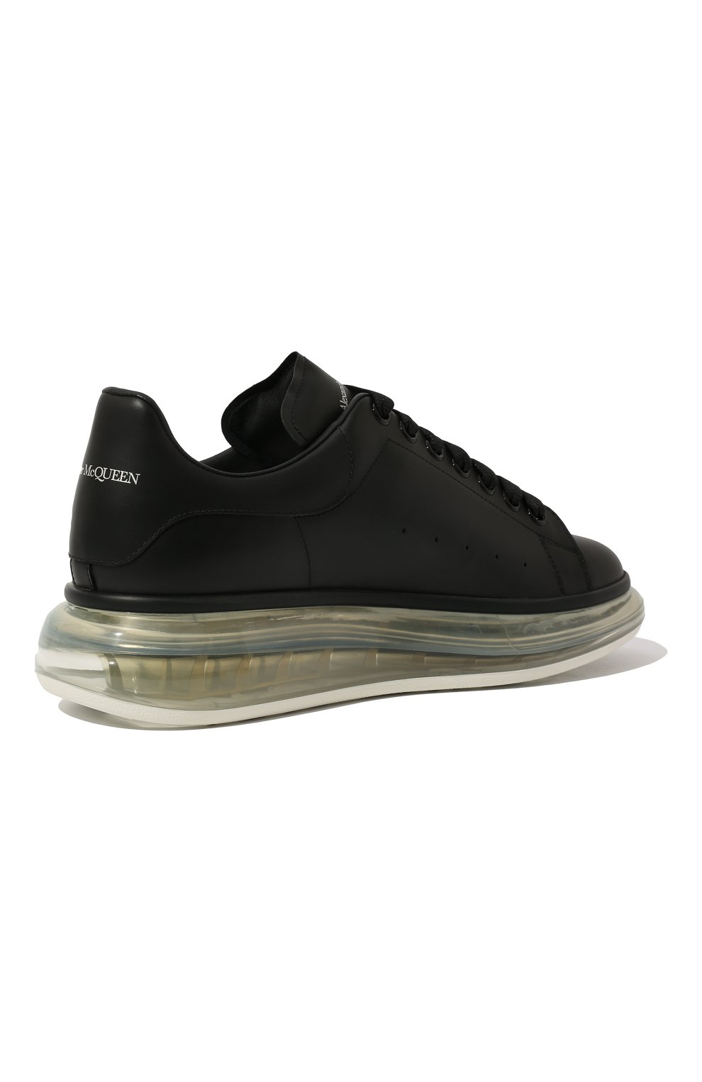 Мужские кожаные кеды ALEXANDER MCQUEEN черного цвета, арт. 604232/WHX98 | Фото 5 (Материал внутренний: Натуральная кожа; Подошва: Массивная)
