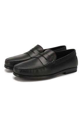Мужские кожаные лоферы TOD'S черного цвета, арт. XXM17C00010D90 | Фото 1