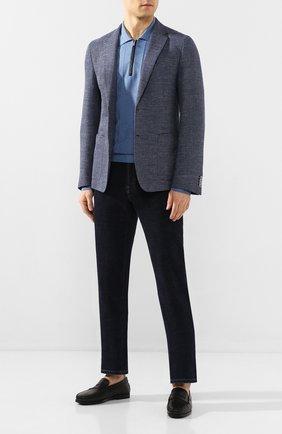 Мужские кожаные лоферы TOD'S черного цвета, арт. XXM17C00010D90 | Фото 2