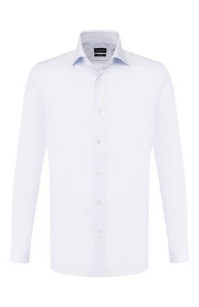 Мужская хлопковая сорочка ERMENEGILDO ZEGNA светло-голубого цвета, арт. 701503/9MS0BA | Фото 1