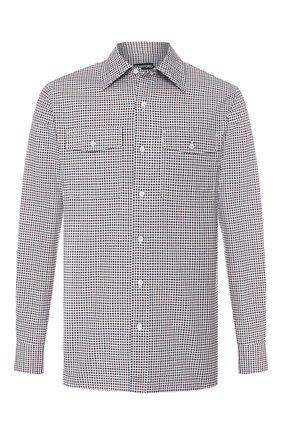 Мужская хлопковая рубашка TOM FORD коричневого цвета, арт. 7FT625/94PHRK | Фото 1