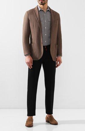 Мужская хлопковая рубашка TOM FORD коричневого цвета, арт. 7FT625/94PHRK | Фото 2